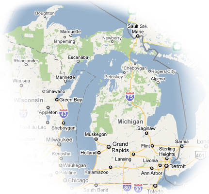 maps of michigan cities. Southeast Michigan: Detroit